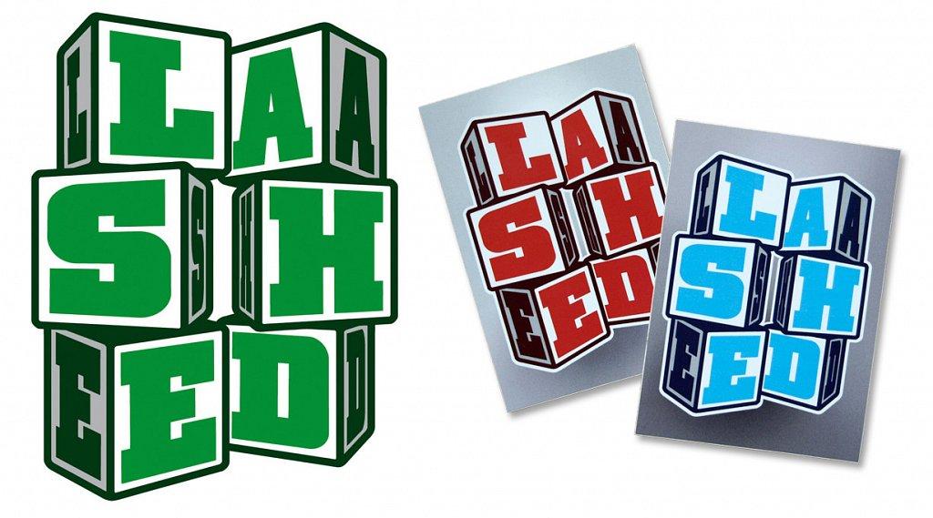 LASHED sticker